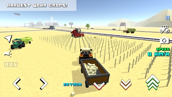 Blocky Farm Racing на Android & IOS (Много Денег)