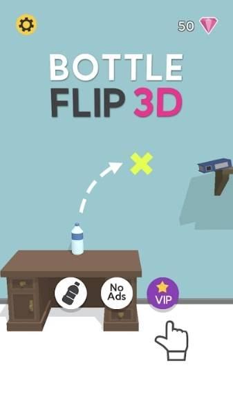 Bottle Flip 3D на Android & IOS (Много Денег (Алмазов))