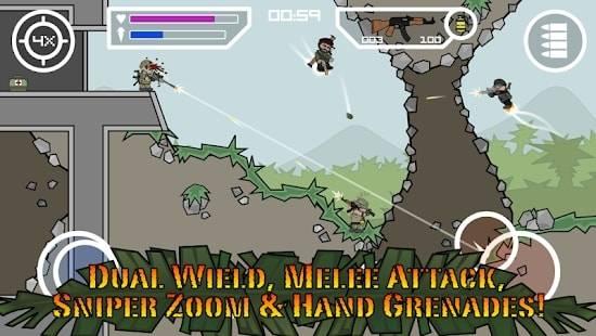 Doodle Army 2: Mini Militia — Бессмертие, Бесконечные патроны и Много Денег