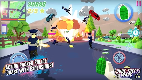 Dude Theft Wars Мод (Много Денег) на Android & IOS