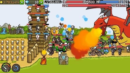 Grow Castle на Android & IOS (Много Денег и Алмазов)