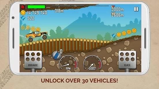 Hill Climb Racing (Много Денег и Алмазов) на Android & IOS