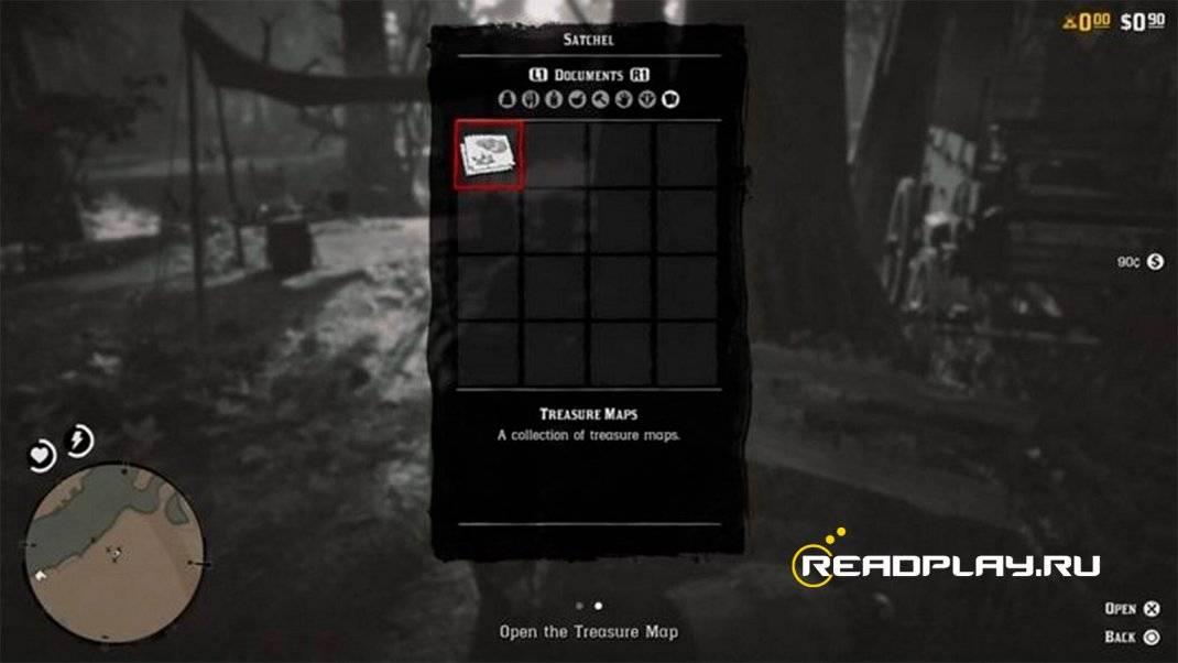 Карты сокровищ в Red Dead Redemption Online