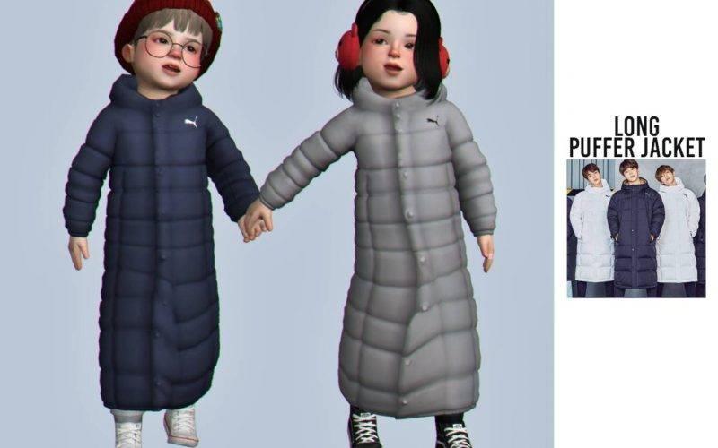 "Куртка ""long puffer jacket"" для Симс 4"