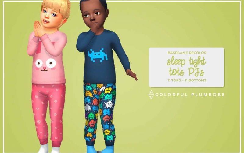"""Пижама """"Sleep Tight Tots PJs"""" для Симс 4"""