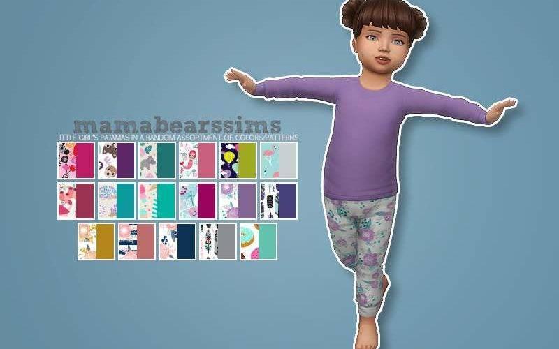 """Пижамный комплект """"Little Girl's Pajama Set"""" для Симс 4"""
