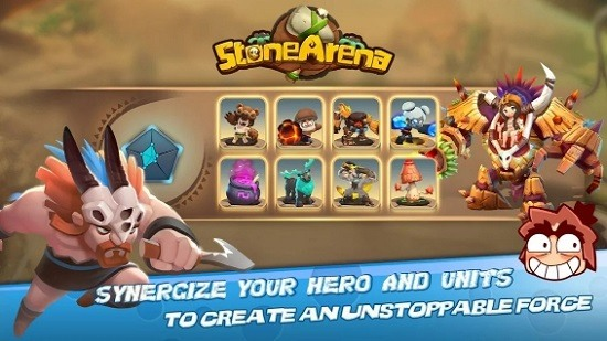 Stone Arena на Android & IOS. Бесплатные золотые Монеты и Моллюски