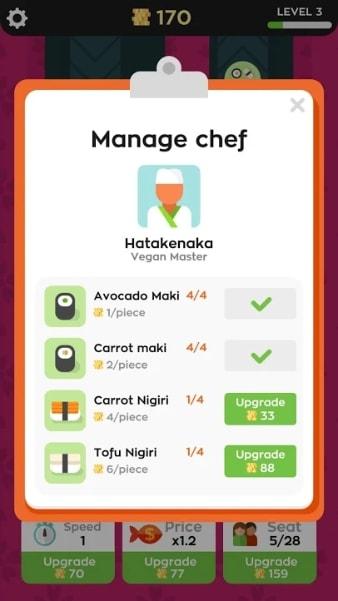 Sushi Bar на Android & IOS (Много Денег)